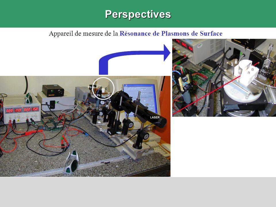 Perspectives Appareil de mesure de la Résonance de Plasmons de Surface
