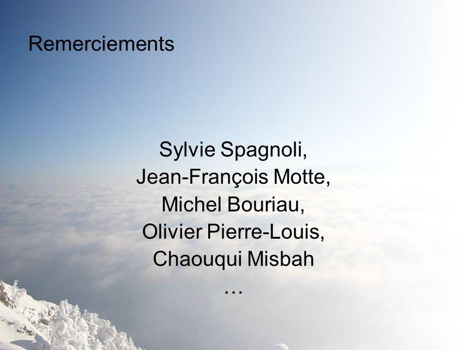 Remerciements Sylvie Spagnoli, Jean-François Motte, Michel Bouriau, Olivier Pierre-Louis, Chaouqui Misbah …