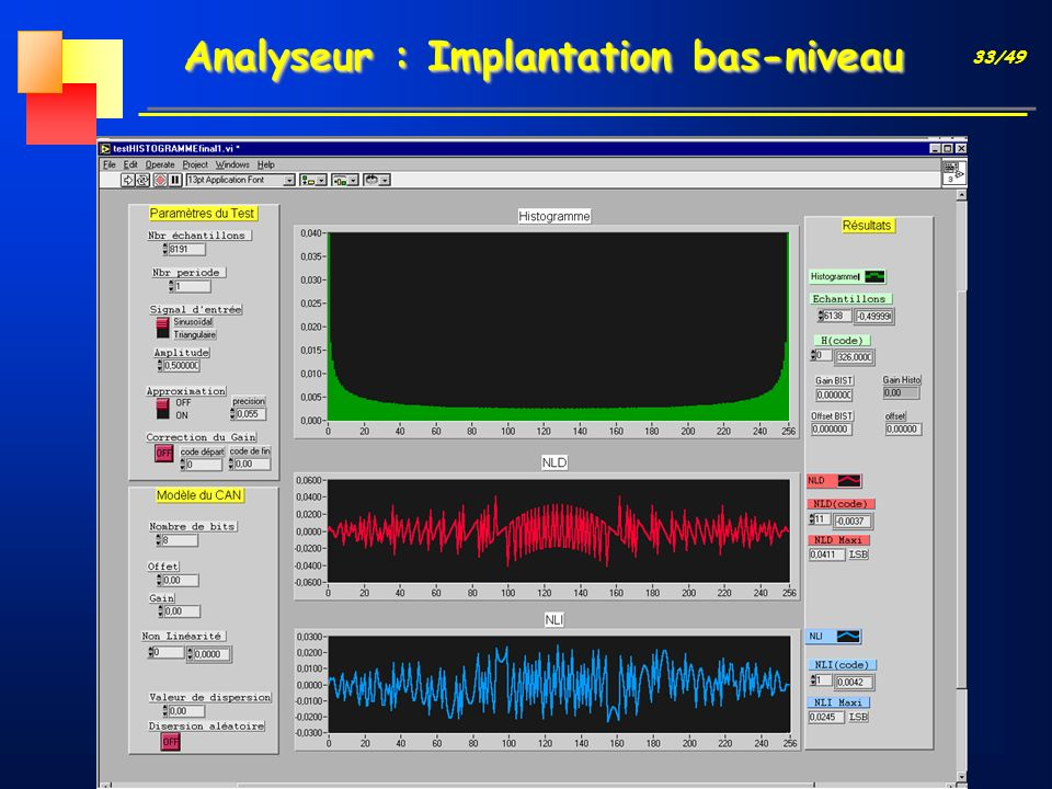 33/49 Analyseur : Implantation bas-niveau