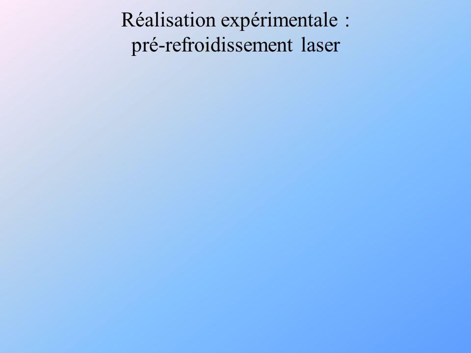 Réalisation expérimentale : pré-refroidissement laser
