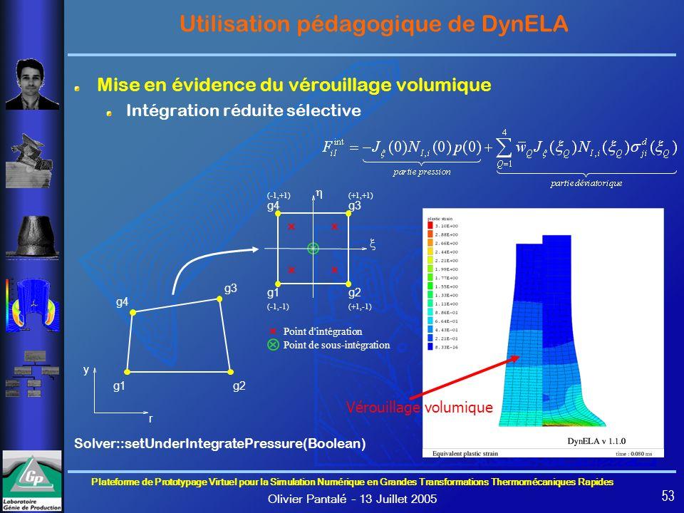 Plateforme de Prototypage Virtuel pour la Simulation Numérique en Grandes Transformations Thermomécaniques Rapides Olivier Pantalé – 13 Juillet 2005 5