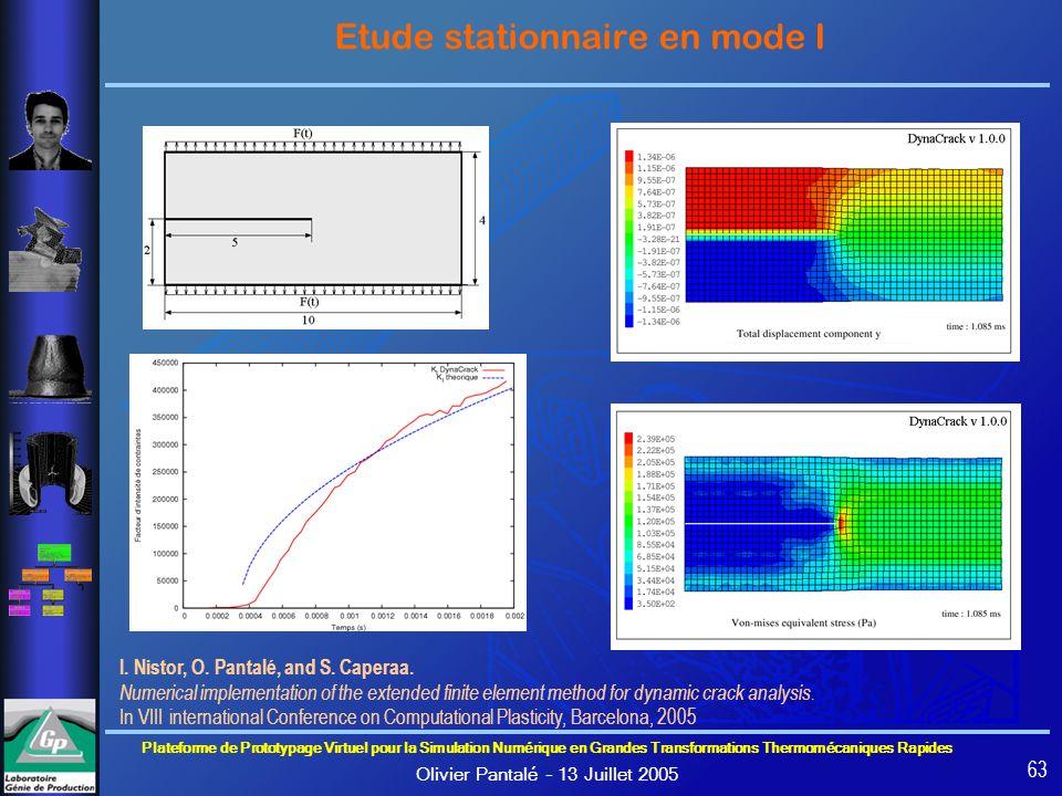 Plateforme de Prototypage Virtuel pour la Simulation Numérique en Grandes Transformations Thermomécaniques Rapides Olivier Pantalé – 13 Juillet 2005 6