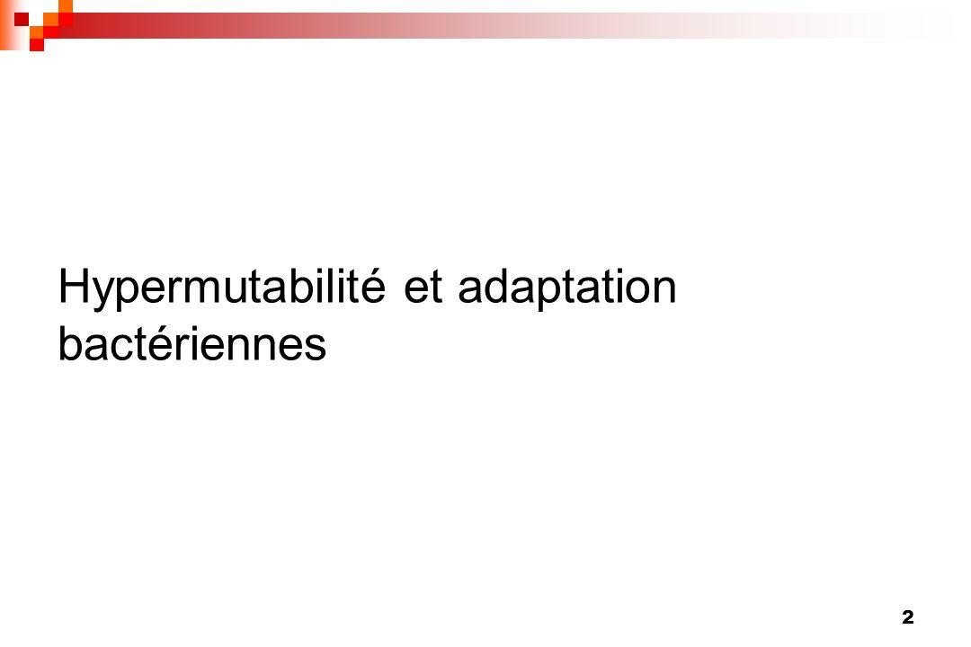 43 Relation entre hypermutabilité et résistance aux macrolides chez les S.