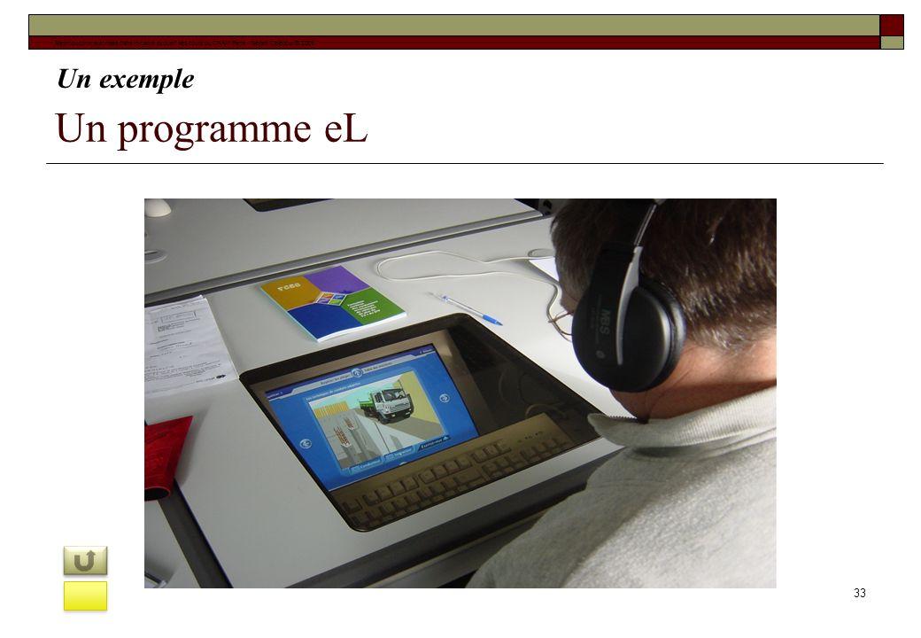 Un programme eL 33 Reproduction autorisée dans le cadre exclusif des cours du CNAM Paris - Gérard Delacour © 2009 Un exemple