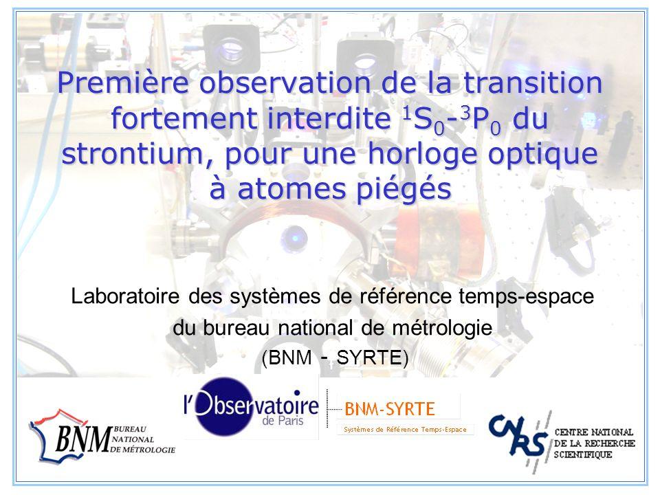 2 Plan de lexposé I.Introduction et motivations II.La source datomes froids de strontium Source laser à 461nm Ralentisseur Zeeman Piège magnéto-optique III.