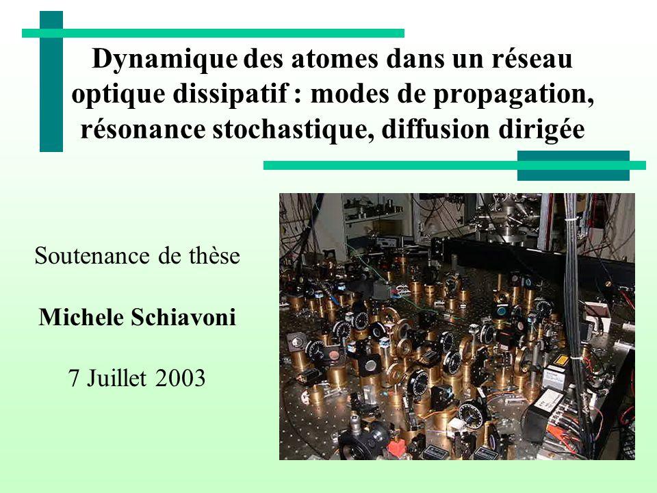 Dynamique des atomes dans un réseau optique dissipatif : modes de propagation, résonance stochastique, diffusion dirigée Soutenance de thèse Michele S