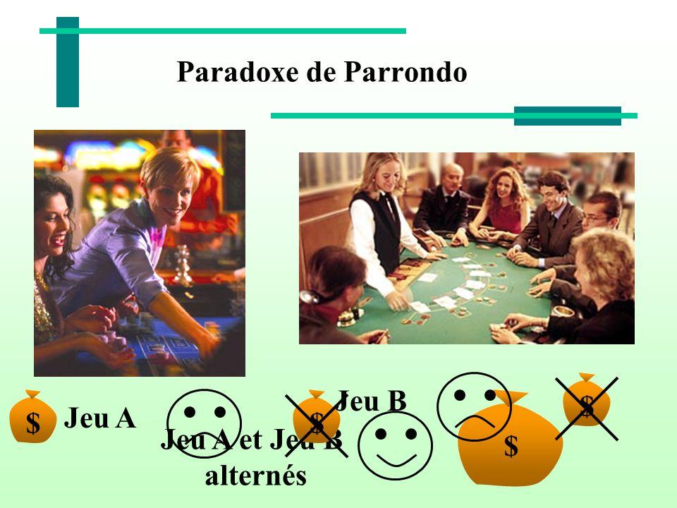 Paradoxe de Parrondo $ Jeu A et Jeu B alternés $ Jeu B $ Jeu A $