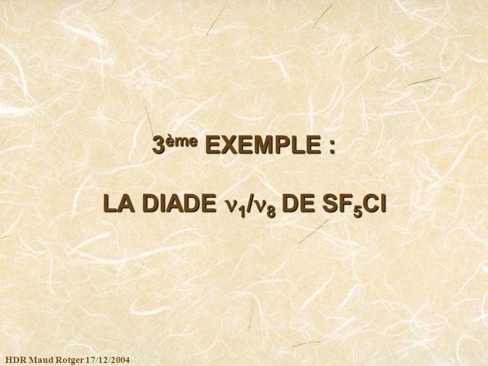HDR Maud Rotger 17/12/2004 3 ème EXEMPLE : LA DIADE 1 / 8 DE SF 5 Cl