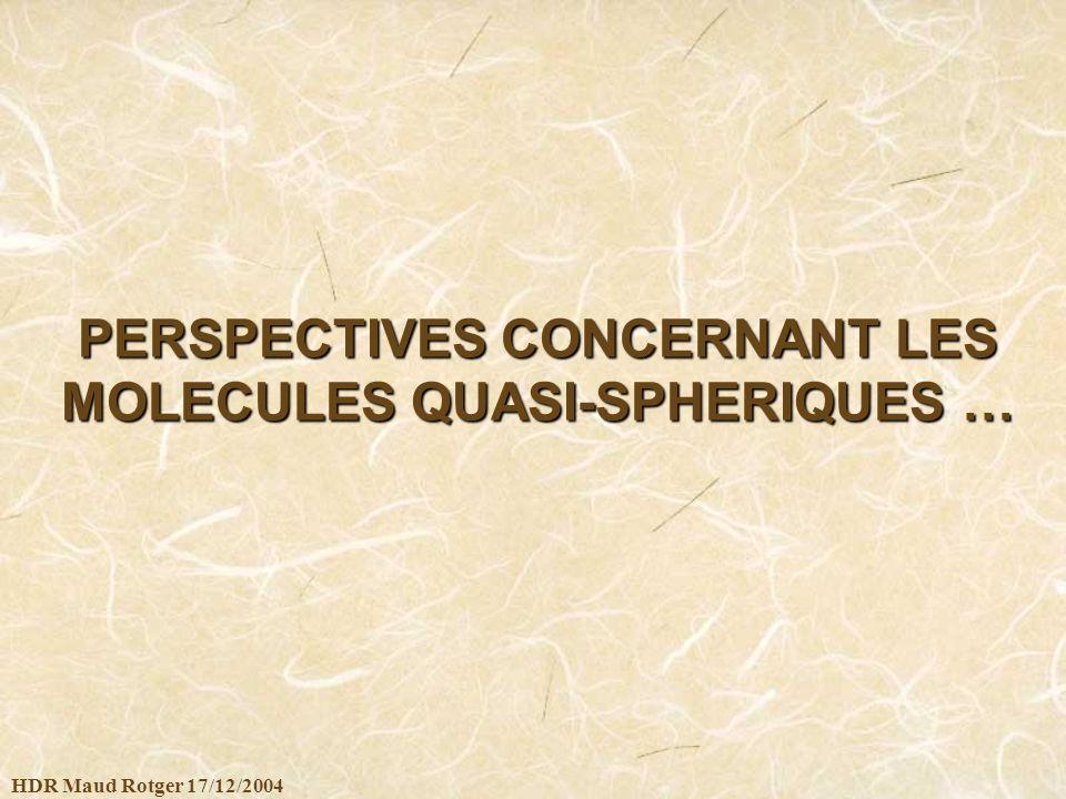 HDR Maud Rotger 17/12/2004 PERSPECTIVES CONCERNANT LES MOLECULES QUASI-SPHERIQUES …