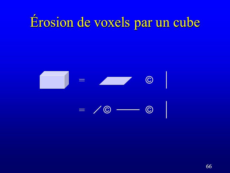 66 Érosion de voxels par un cube = © = ©©