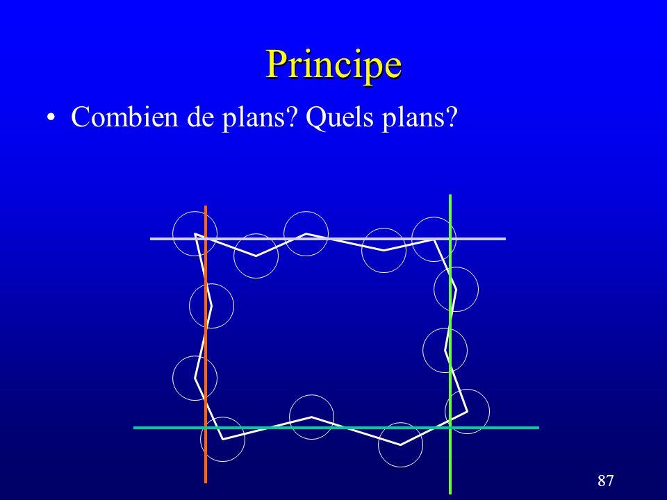 87 Principe Combien de plans Quels plans