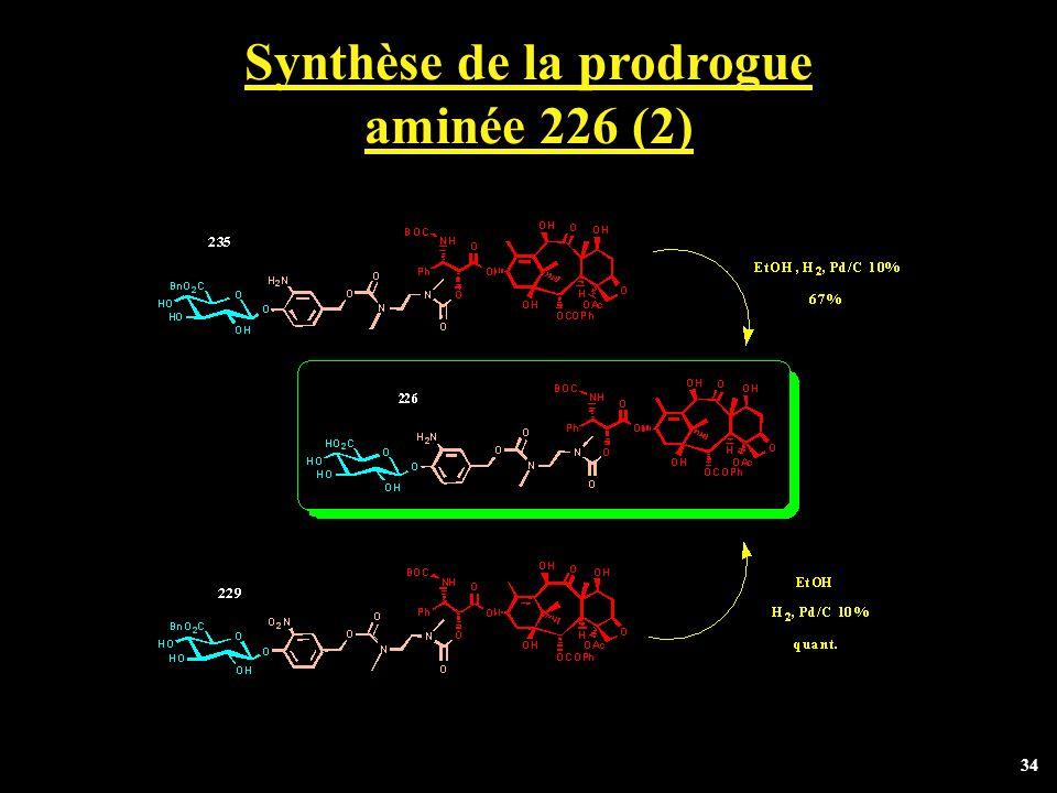 34 Synthèse de la prodrogue aminée 226 (2)