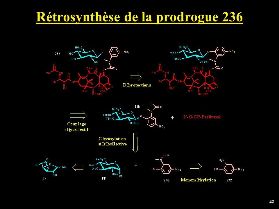 42 Rétrosynthèse de la prodrogue 236