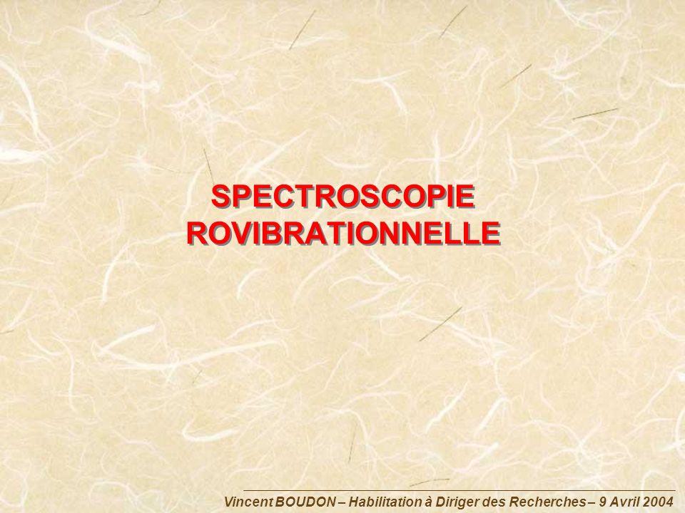 Vincent BOUDON – Habilitation à Diriger des Recherches – 9 Avril 2004 SPECTROSCOPIE ROVIBRATIONNELLE