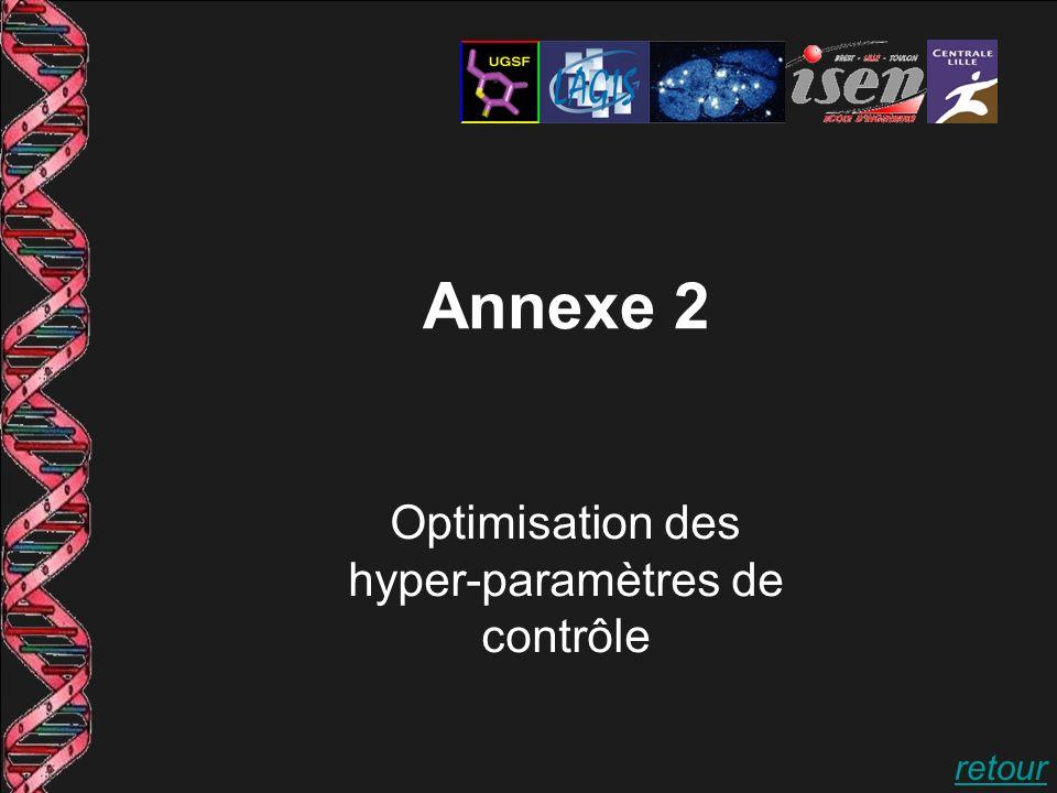 Annexe 2 Optimisation des hyper-paramètres de contrôle retour