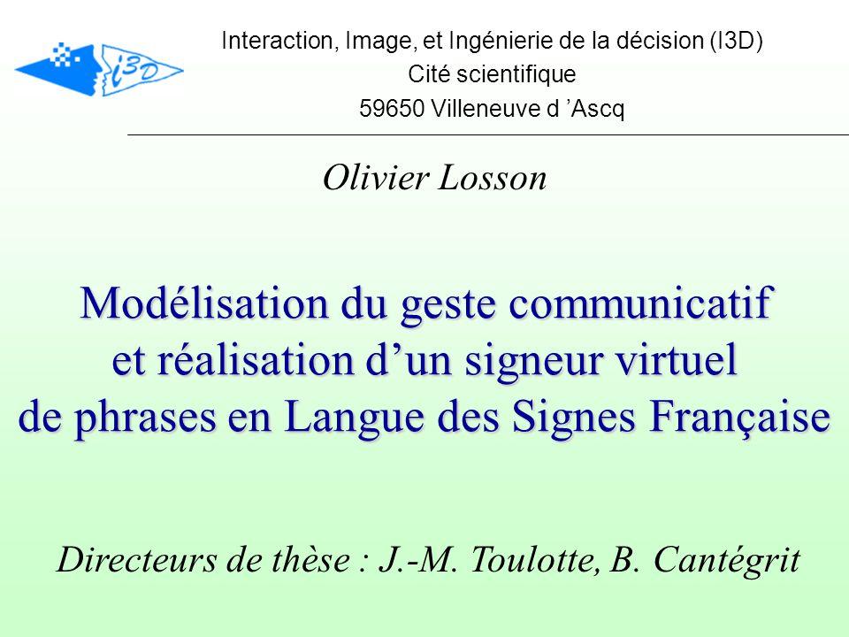 Le discours signé Utilisation de lespace Localisation Accord agent/patient (Verbes directionnels)