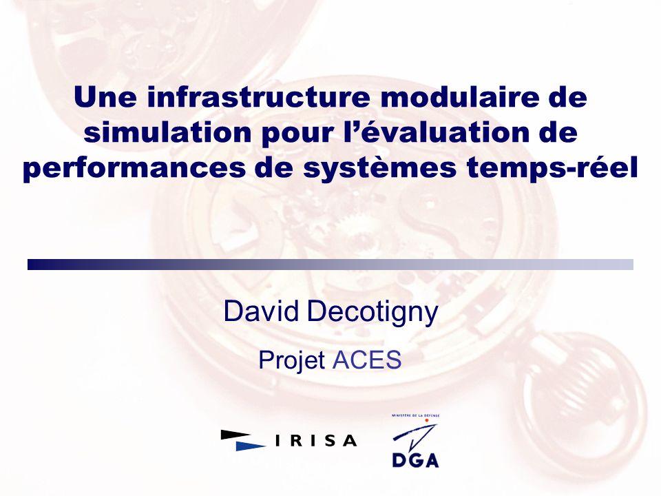 Une infrastructure modulaire de simulation pour lévaluation de performances de systèmes temps-réel David Decotigny Projet ACES