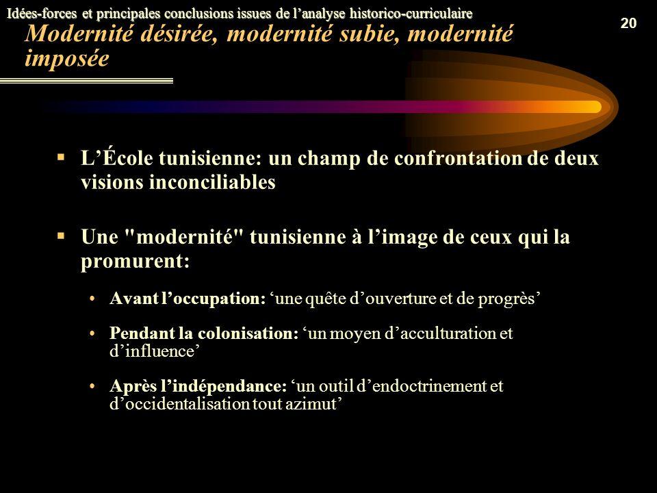 19 Lécole tunisienne du 19 ème siècle: un enseignement à deux vitesses (1) Un enseignement traditionnel unilingue à trois étages: Les Kûttab pour le p