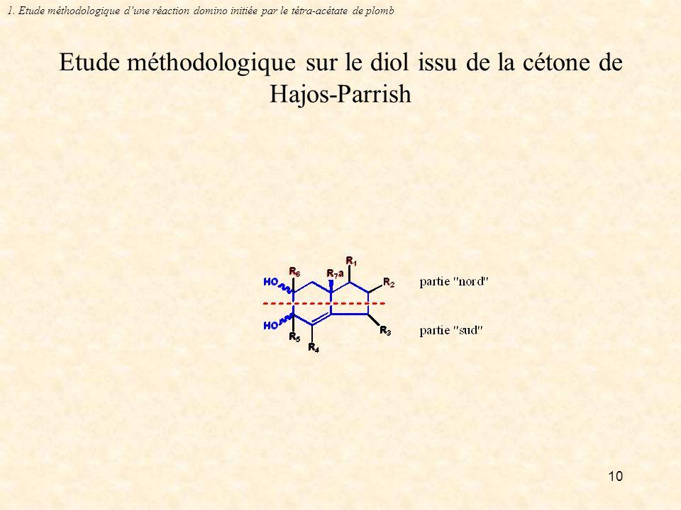10 Etude méthodologique sur le diol issu de la cétone de Hajos-Parrish 1.