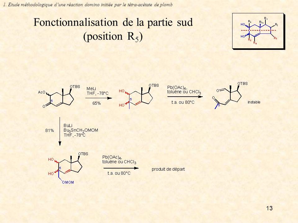 13 Fonctionnalisation de la partie sud (position R 5 ) 1.