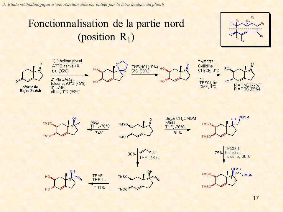 17 Fonctionnalisation de la partie nord (position R 1 ) 1.