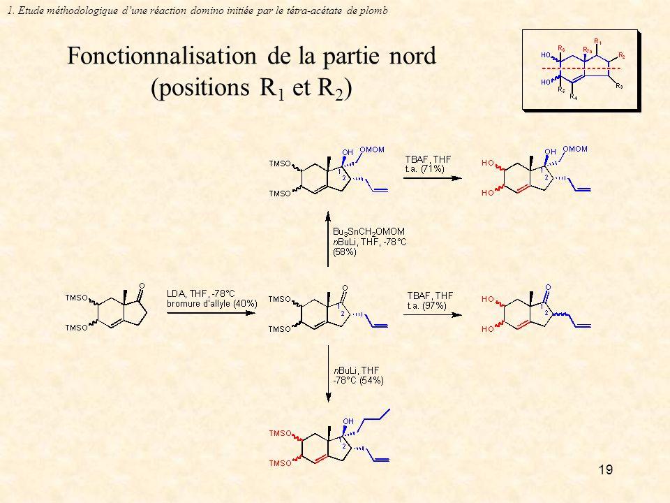 19 Fonctionnalisation de la partie nord (positions R 1 et R 2 ) 1.