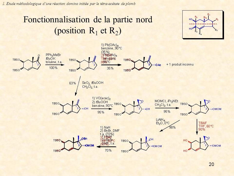 20 Fonctionnalisation de la partie nord (position R 1 et R 2 ) 1.