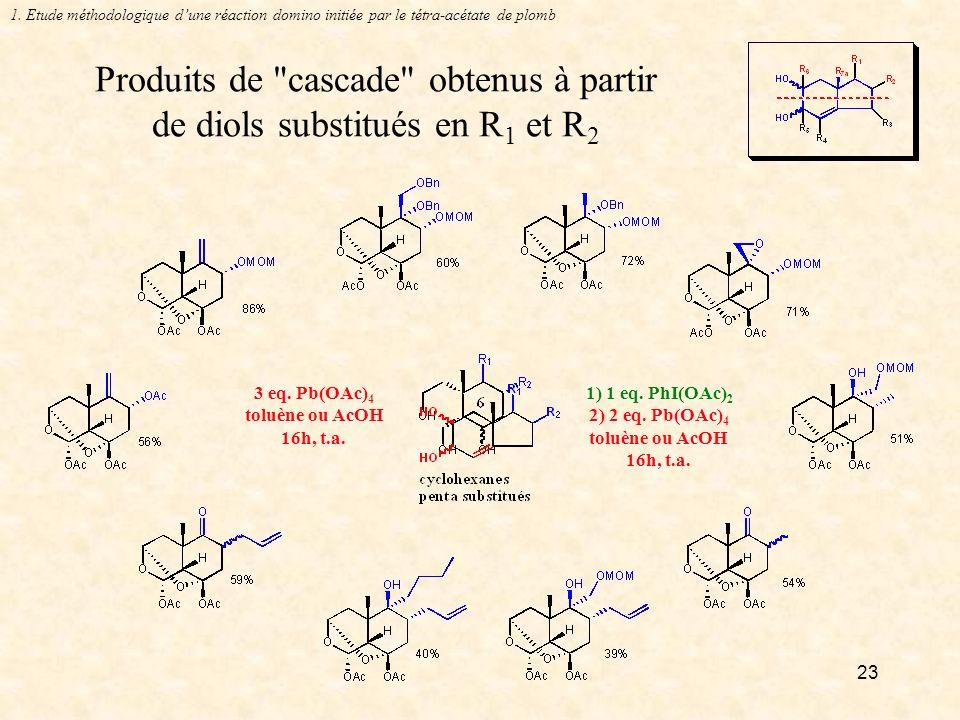 23 Produits de cascade obtenus à partir de diols substitués en R 1 et R 2 1.