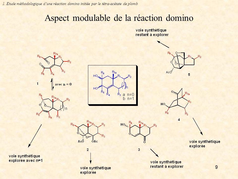 9 Aspect modulable de la réaction domino 1.