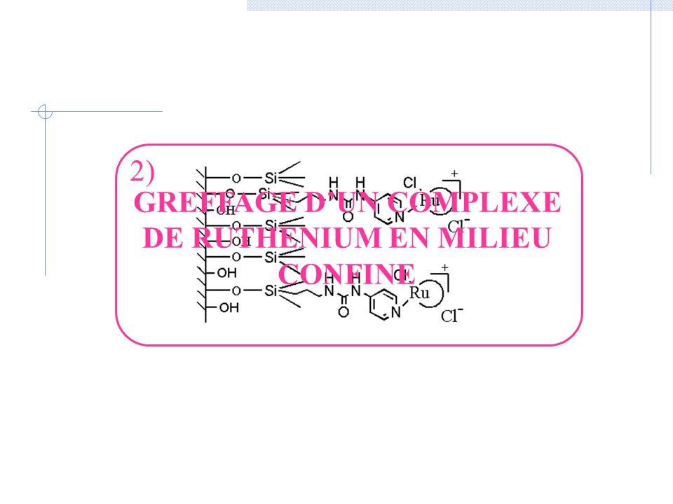 GREFFAGE DUN COMPLEXE DE RUTHENIUM EN MILIEU CONFINE 2)