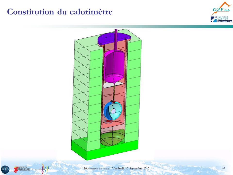 15 Soutenance de thèse – Vendredi, 10 Septembre 2010 Constitution du calorimètre