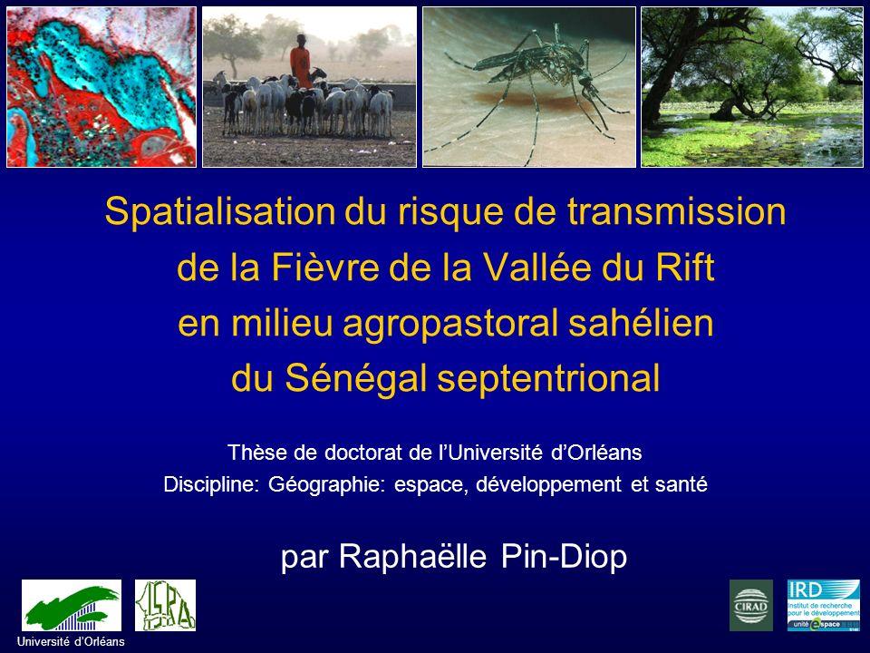 Organisation spatiale des hôtes Caractérisation des mares et répartition des vecteurs Modélisation du risque relatif de transmission de la FVR Cadrage du sujet Problématique Présentation du protocole de recherche Première partie Deuxième partie Plan de la présentation