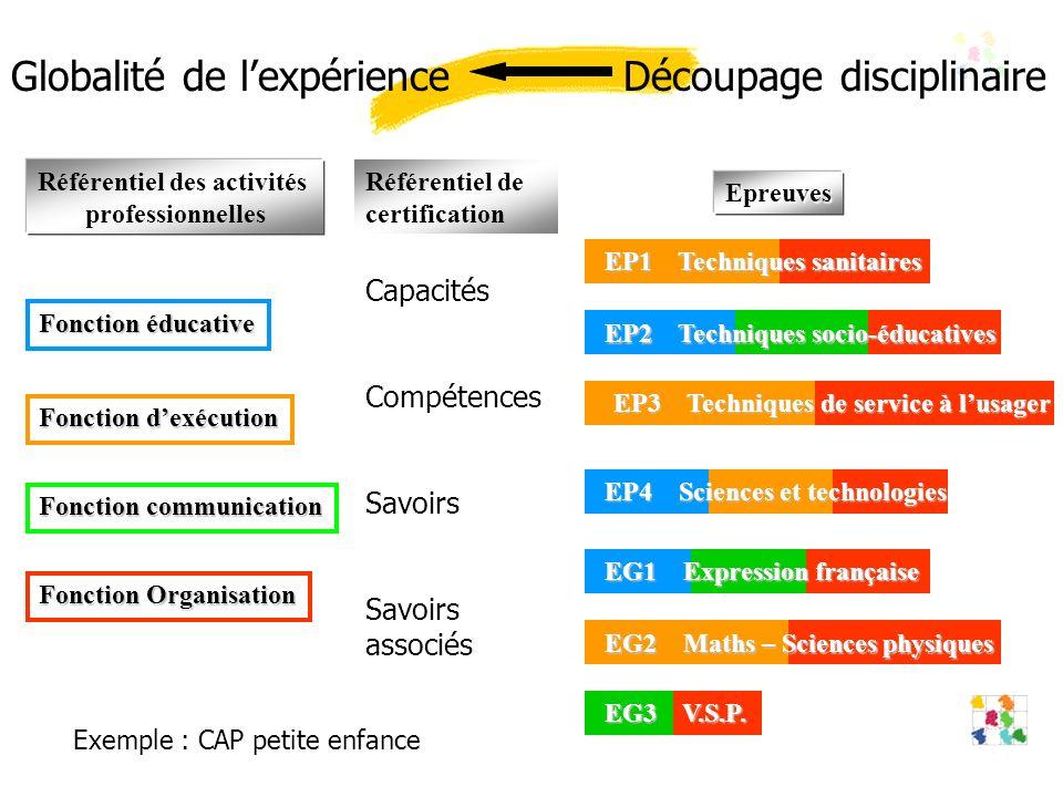 Fonction Organisation EG3 V.S.P.