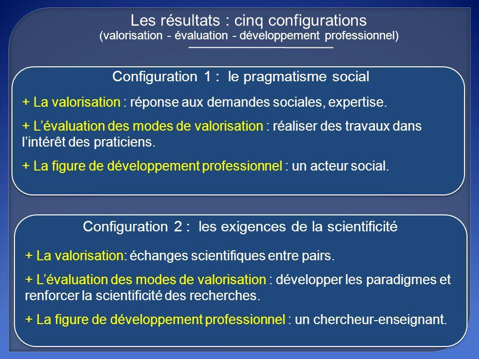 + La valorisation: échanges scientifiques entre pairs. + Lévaluation des modes de valorisation : développer les paradigmes et renforcer la scientifici