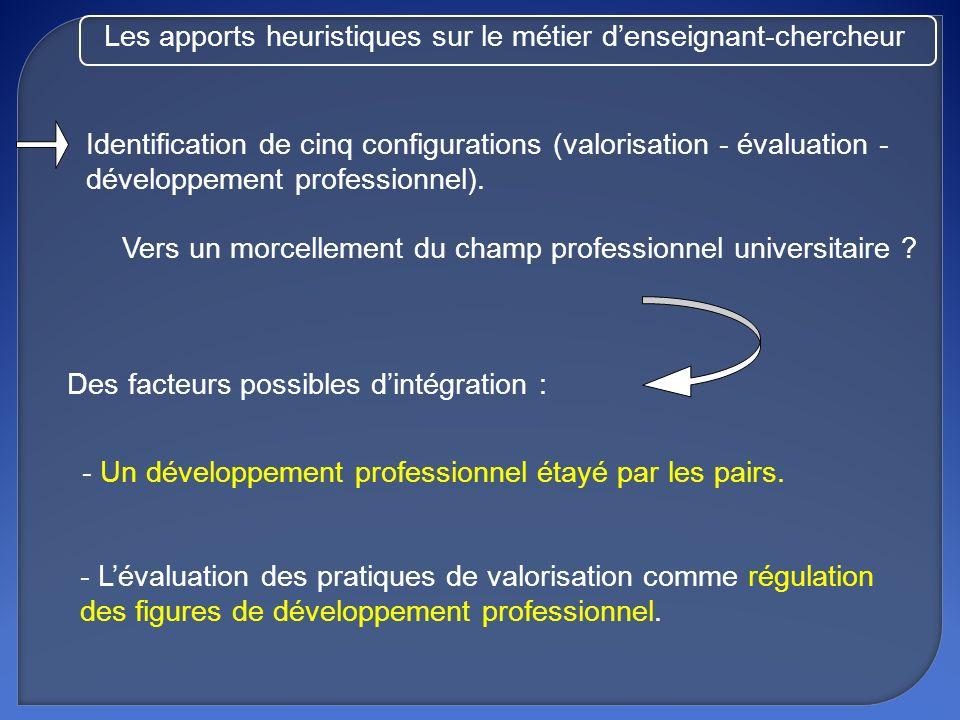 Mieux comprendre les dynamiques dévaluation et de professionnalisation par des recherches sur la valorisation : - Identifier des savoir-faire de valorisation et caractériser leur place au sein des systèmes dexigence professionnels.