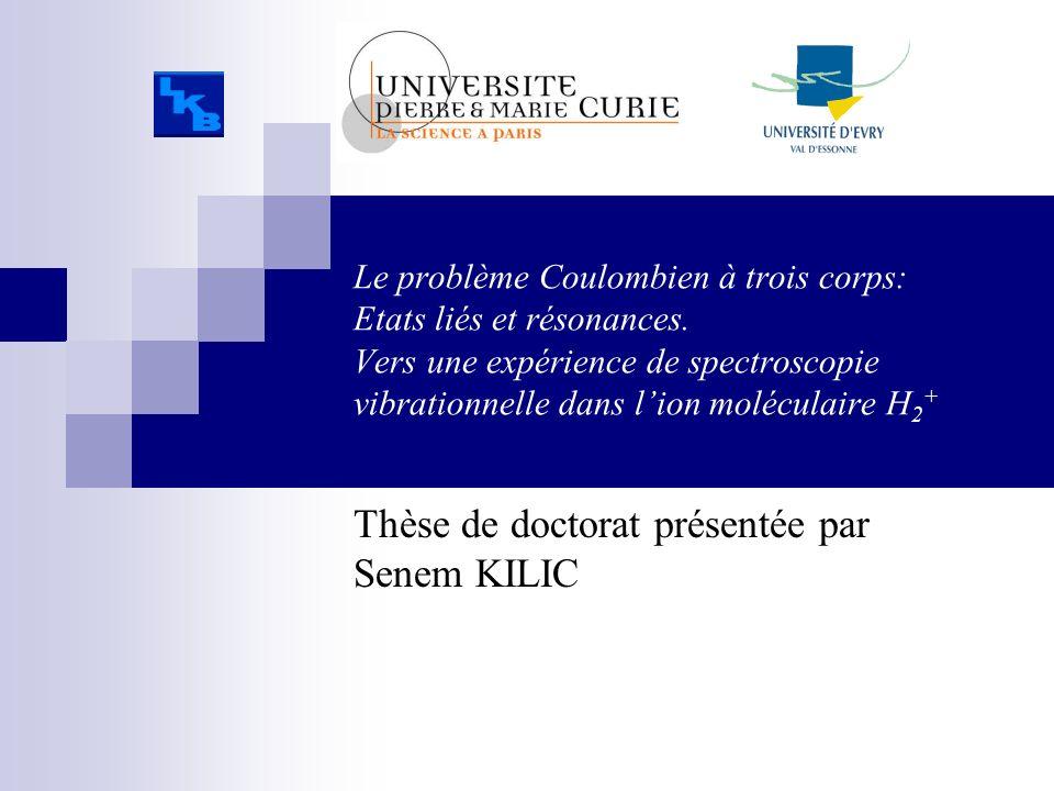 Le problème Coulombien à trois corps: Etats liés et résonances. Vers une expérience de spectroscopie vibrationnelle dans lion moléculaire H 2 + Thèse