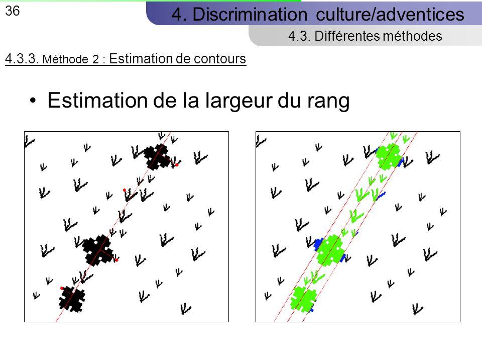 36 4.Discrimination culture/adventices 4.3. Différentes méthodes 4.3.3.