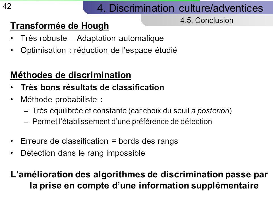 42 4.Discrimination culture/adventices 4.5.