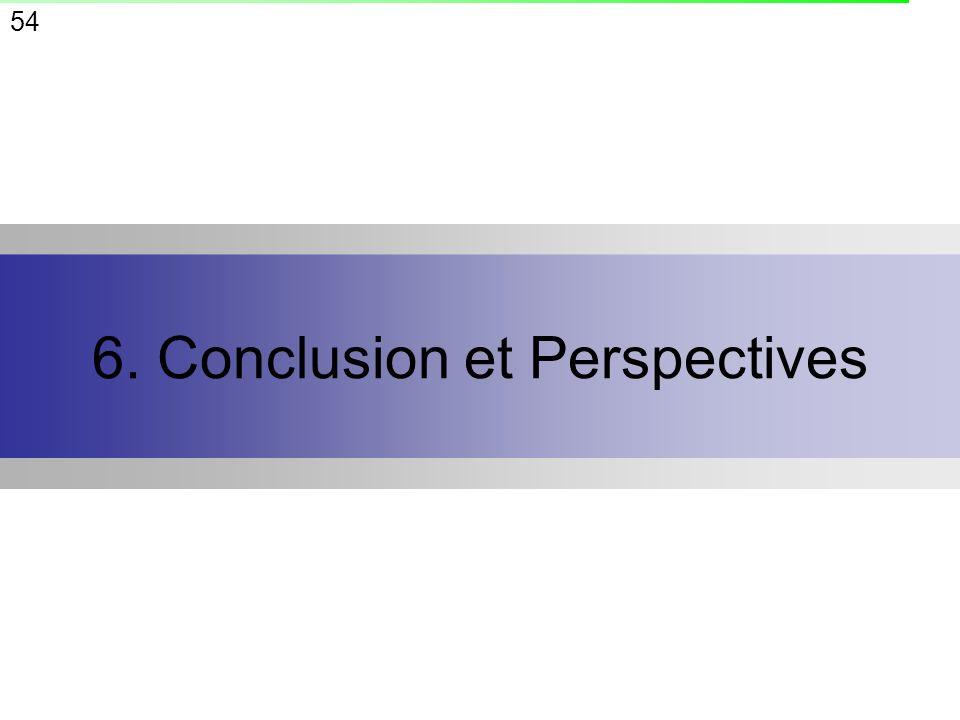 54 6. Conclusion et Perspectives