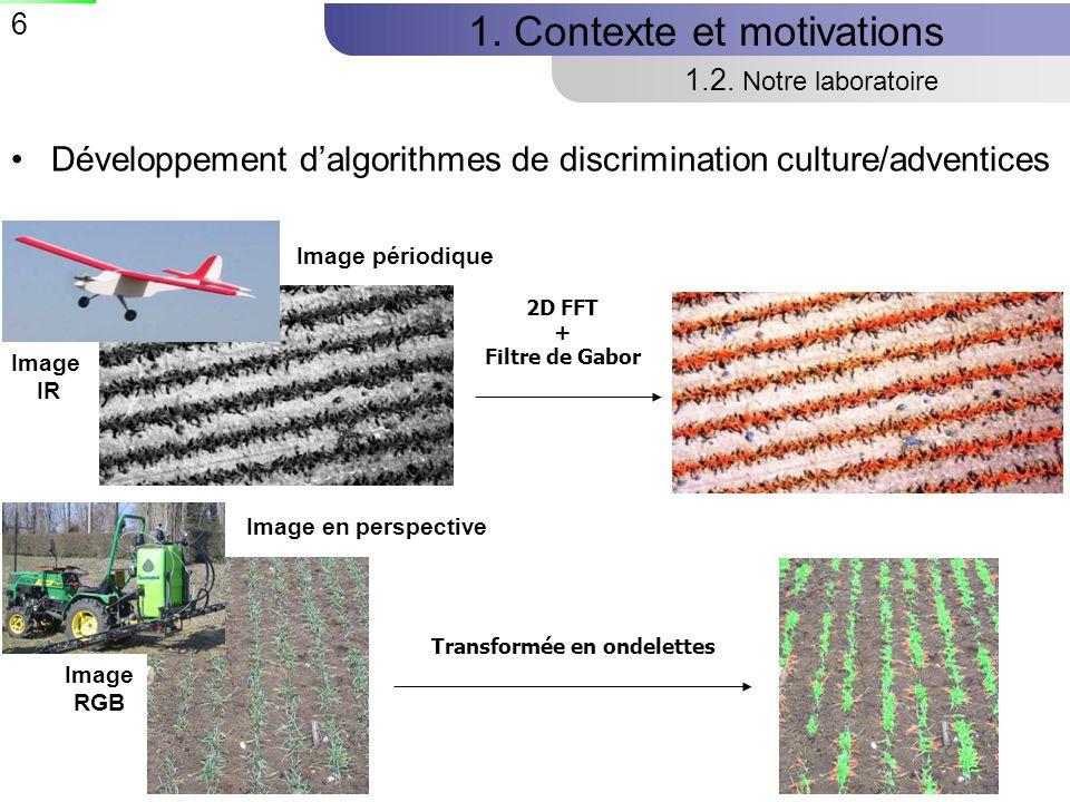 6 Développement dalgorithmes de discrimination culture/adventices 1.