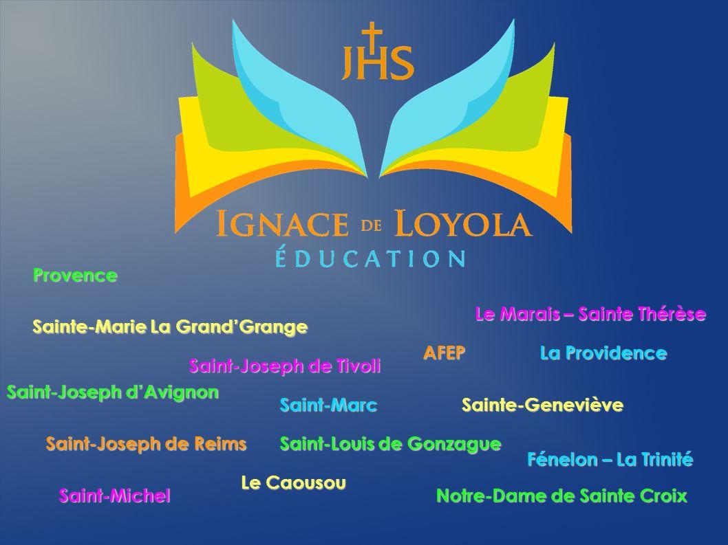 Provence Saint-Louis de Gonzague Notre-Dame de Sainte Croix Saint-Joseph dAvignon Sainte-Geneviève Le Caousou Sainte-Marie La GrandGrange Le Marais –