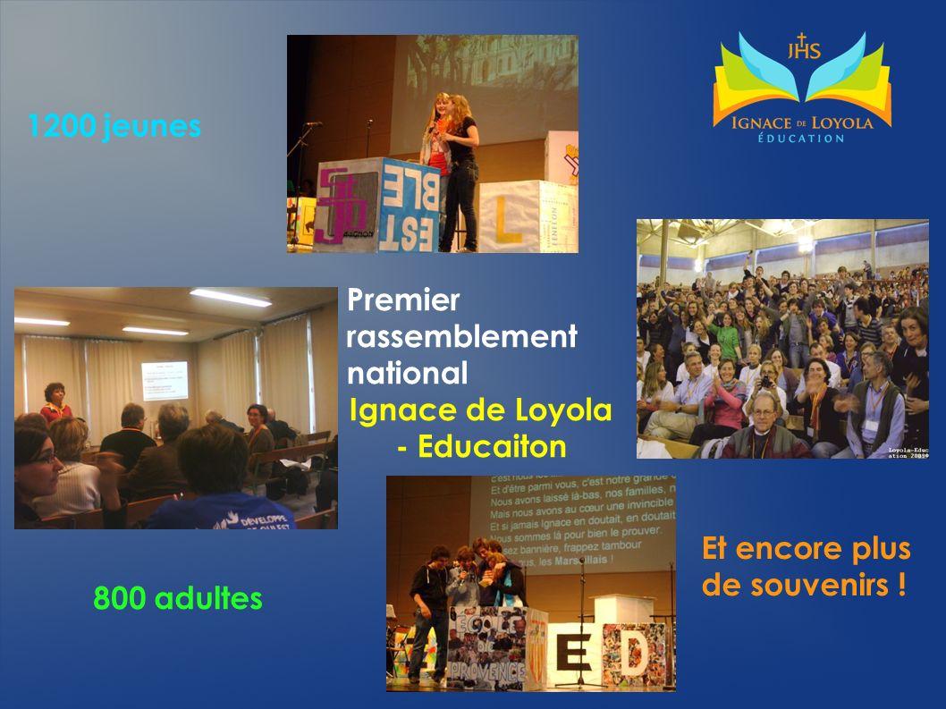 Premier rassemblement national Ignace de Loyola - Educaiton 1200 jeunes 800 adultes Et encore plus de souvenirs !