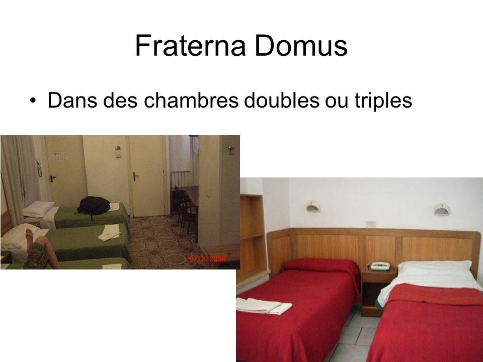 Fraterna Domus Dans des chambres doubles ou triples