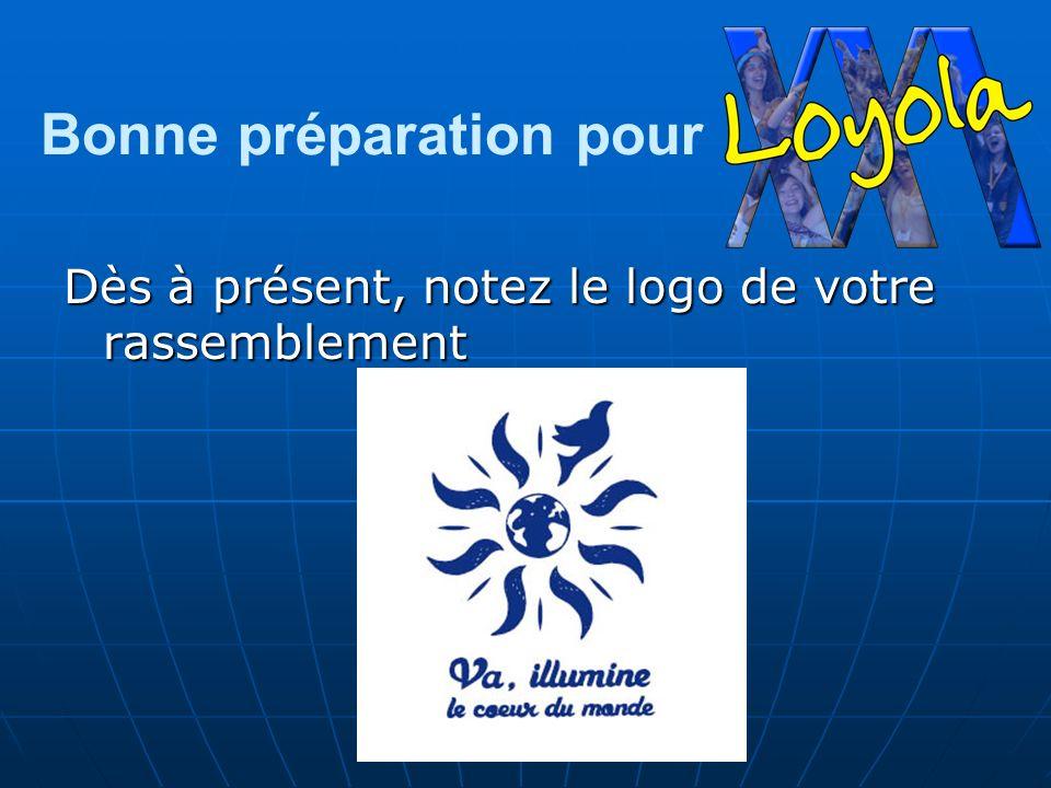 Bonne préparation pour Dès à présent, notez le logo de votre rassemblement