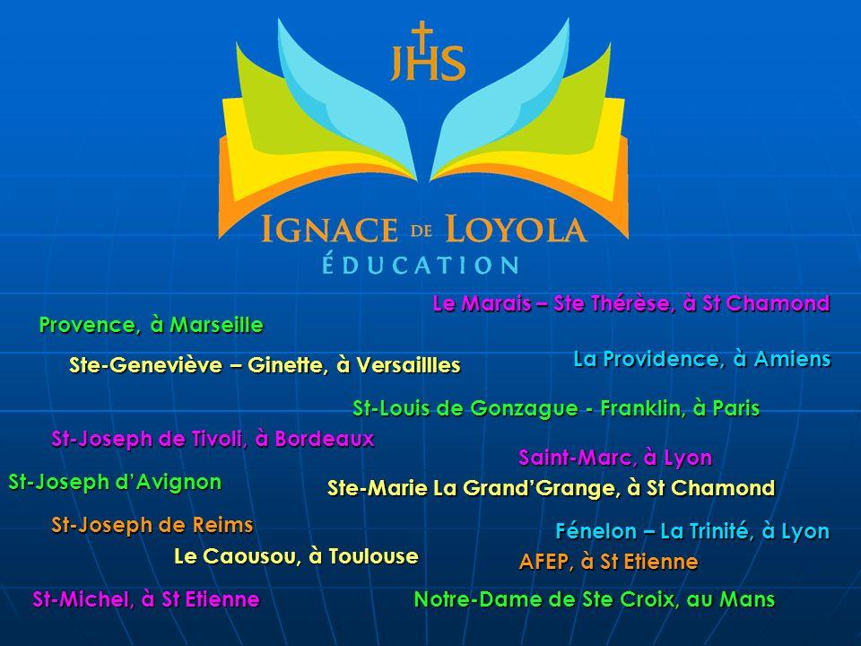 Provence, à Marseille St-Louis de Gonzague - Franklin, à Paris Notre-Dame de Ste Croix, au Mans St-Joseph dAvignon Ste-Geneviève – Ginette, à Versaill