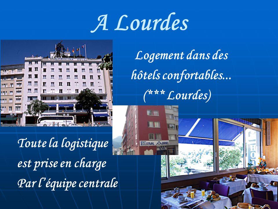 A Lourdes Logement dans des hôtels confortables... (*** Lourdes) Toute la logistique est prise en charge Par léquipe centrale