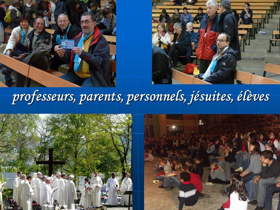 professeurs, parents, personnels, jésuites, élèves