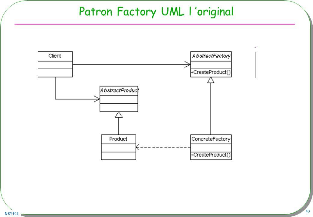 NSY102 43 Patron Factory UML l original