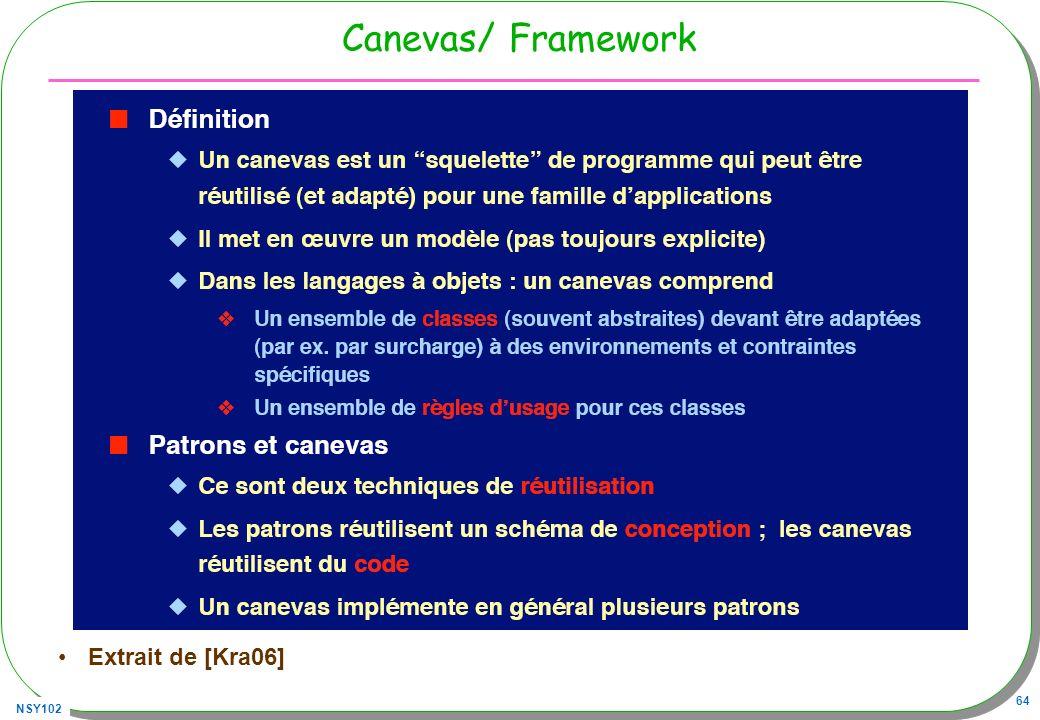 NSY102 64 Canevas/ Framework Extrait de [Kra06]