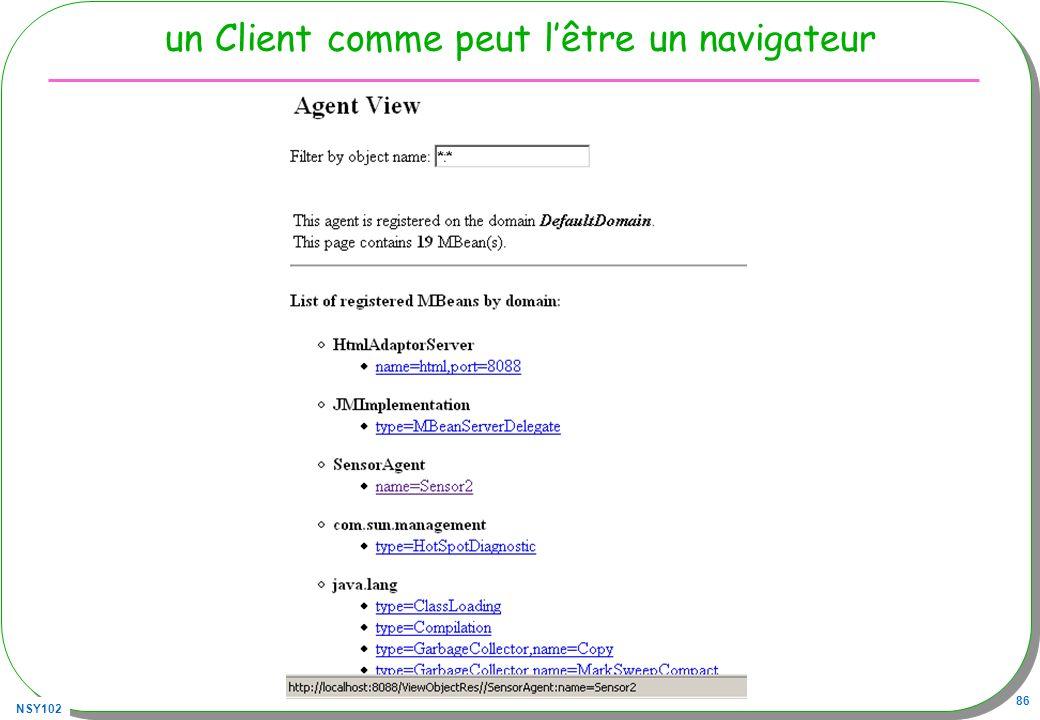NSY102 86 un Client comme peut lêtre un navigateur